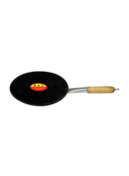 Raj 25cm Iron Tawa with Handle, IHT010, Black