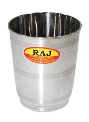 Raj 9.5cm Steel Khusboo Silver Touch Glass, STGK02, Silver