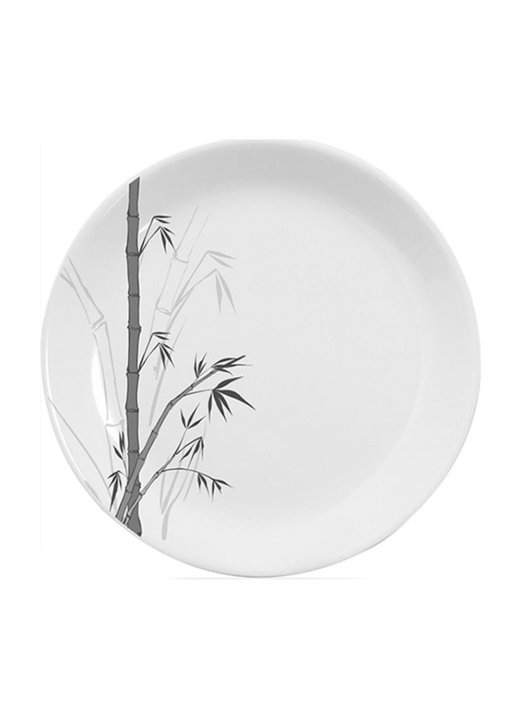 Dinewell 7.5-inch Green Bamboo Melamine Side Plate, DWHP3090GB, White