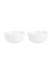 Dinewell 2-Piece Melamine Topaz Veg Bowl Set, DWB9002W, 4x2-inch, White