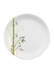 Dinewell 10.5-inch Green Bamboo Melamine Dinner Plate, DWHP3089GB, White/Green
