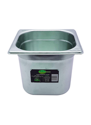 Raj 1/6x15cm Stainless Steel Gastronorm Pan, CS5752, Silver, 17.6x16.2x15cm