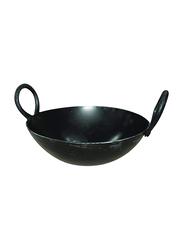 Raj 25cm Iron Kadai, IK0010, Black