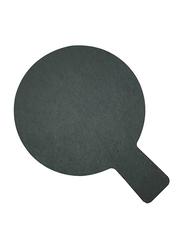 Raj 28cm Stoneware Slate Paddle Round Board, SL0015, 28x20 cm, Grey