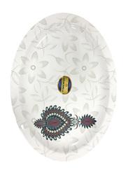 Dinewell 34cm Jewels Melamine Oval Platter, DWR5012JW, White/Grey