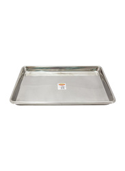 Raj 45cm Steel Commercial Full Sheet Pan, RSP003, 45x33 cm, Silver