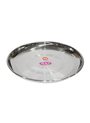 Raj 25cm Silver Touch Steel China Plate, STCP11, Silver