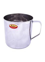 Raj 10cm Steel Deluxe Mug, NM0010, Silver