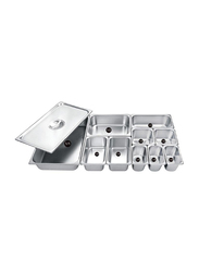 Raj 1/6x20cm Stainless Steel Gastronorm Pan, CS5755, Silver, 17.6x16.2x20cm
