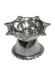 Raj 4cm Stainless Steel Deepak Diya, Silver