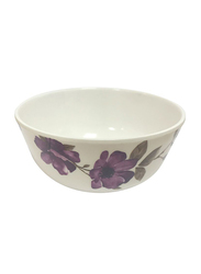 Dinewell 4.5-inch Melamine Blossom Bowl, DWB5008BL, White/Purple