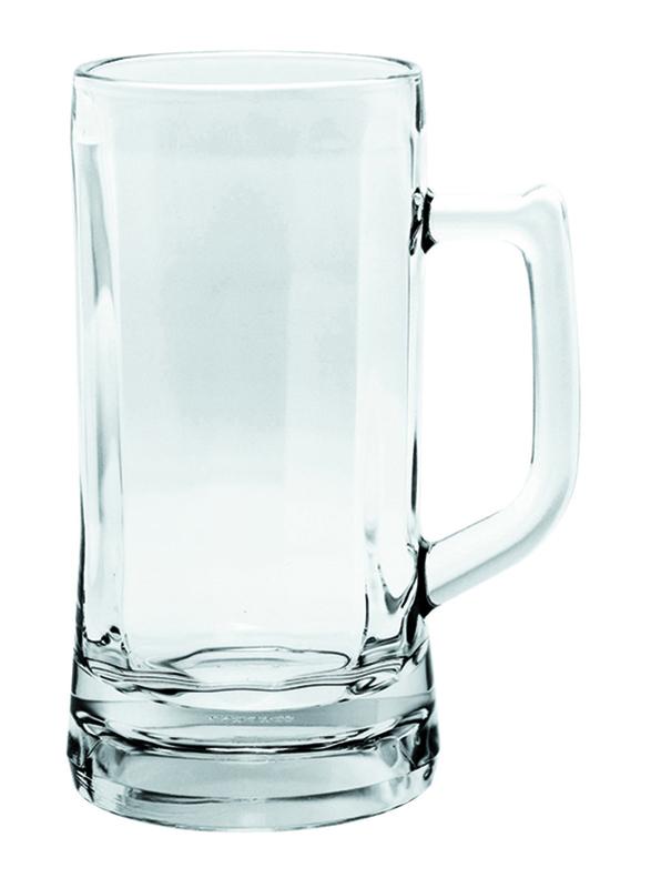 Ocean 640ml 6-Piece Set Munich Glass Beer Mug, P00843, Clear