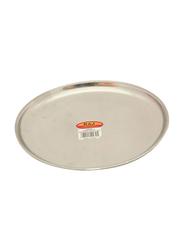 Raj 23.5cm Steel China Plate, CP0010, Silver