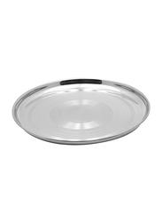 Raj 65cm Steel Thala Round Dinner Plate, RT0065, Silver