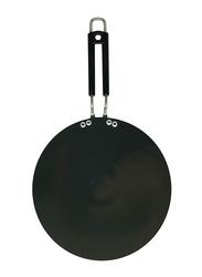 Raj 25.5cm Anodized Concave Tawa, BBAT10, Black