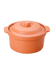 Dinewell 6-inch Terra Cotta Serving Bowl with Lid, DWMB0135TC, Orange