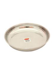 Raj 19.5cm Steel Rice Plate, RP0009, Silver