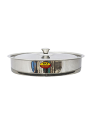 Raj 23cm Steel Round Oven Tray with Lid, VOT001, Silver