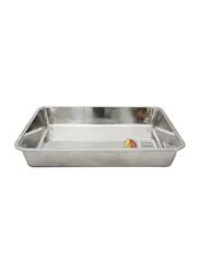 Raj X-Large Steel Deep Baking Tray, HKDT0XL, 46x32x8 cm, Silver
