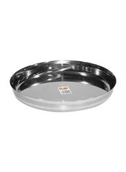Raj 24cm Steel Sada Thali, TS0011, Silver