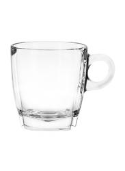 Ocean 195ml 6-Piece Set Caffe Glass Cappuccino Cup, P02441, Clear