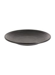 Dinewell 7.5-inch Melamine Matt Dinner Plate, DWMP027B, Black
