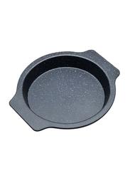 RK 29cm Non Stick Round Bake Pan with Holder, 29x26.5x3.5 cm, Black