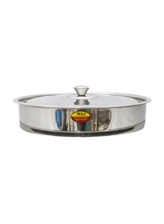 Raj 35cm Steel Round Oven Tray with Lid, VOT003, Silver