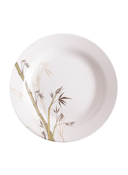Dinewell 10.5-inch Green Bamboo Melamine Soup Plate, DWSP001GB, White