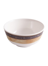 Dinewell 4.5-inch Melamine Hotensia Non-Stick Bowl, DWB5008HO, White/Brown
