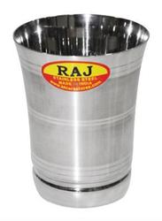 Raj 10.5cm Steel Touch Flower Glass, STGN01, Silver