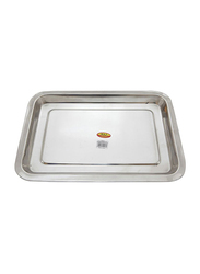 Raj 42cm Steel Serving Tray, SST001, 42x29x2.5cm, Silver
