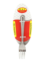Raj 12-Piece Stainless Steel Royal Dessert Fork Set, RC0002, Silver