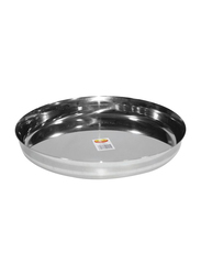 Raj 26cm Steel Sada Thali, TS0012, Silver