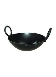 Raj 34.5cm Iron Kadai, IK0014, Black