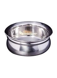 Raj 15.5cm Steel Handi without Lid, TSH002, 15.5cmx6 cm, Silver