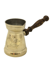 Raj 7cm Brass Turkish Coffee Pot, BTC007, 7x12.5 cm, Gold