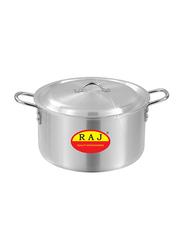 Raj 5-Piece Aluminium Cooking Pot Set, RATP02, Silver