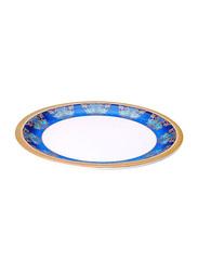 Dinewell 11-inch Royal Decor Dinner Plate, DWP5002RD, Blue/White