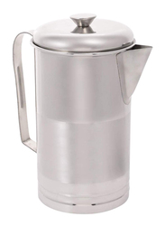 Vinod 2 Ltr Stainless Steel Water Jug Straight with Lid, VPI003, Silver