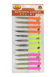 Raj 12-Piece Lazer Knife Set, RSSP26, Pink/Green/Orange
