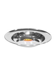 Raj 28cm Steel Soup Plate, SP0012, Silver