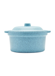 Dinewell 6-inch Melamine Speckle Bowl with Lid, DWMB0135BS, Blue