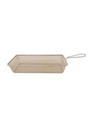 Raj 29cm Steel Mini Rectangle Serving Basket, MTBR263, 29x16x3.5 cm, Silver