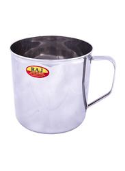 Raj 12cm Steel Deluxe Mug, NM0012, Silver