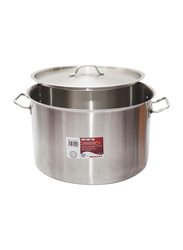 Chefset 20cm Steel Cooking Pot with Lid, CI5003, 20x12 cm, 3.8 Ltr, Silver