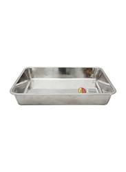 Raj XX-Large Steel Deep Baking Tray, HKDT0X2, 56x35x9 cm, Silver