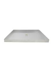 Tiger 60cm Aluminium Baking Tray, TAT060, 60x40x4 cm, Silver