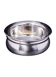 Raj 13cm Steel Handi without Lid, TSH001, 13cmx6 cm, Silver
