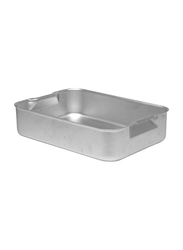 Chefset 42cm Aluminium Rectangle Deep Roasting Dish, CS1140, 42x30.5x7 cm, Silver